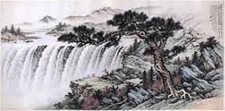 黃君璧 松巖觀瀑