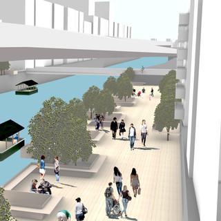 都市を結ぶ「オビ」、対岸を留める「ボタン」 - 移動と滞在がつくる舞台 -