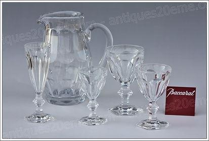 Service verres pichet carafe Roemer cristal Baccarat modèle service Harcourt verres, carafe, pichet, flûte, coupe