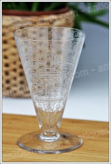 Verres à eau en cristal de Baccarat modèle Art Déco Lido, Baccarat crystal water glasses