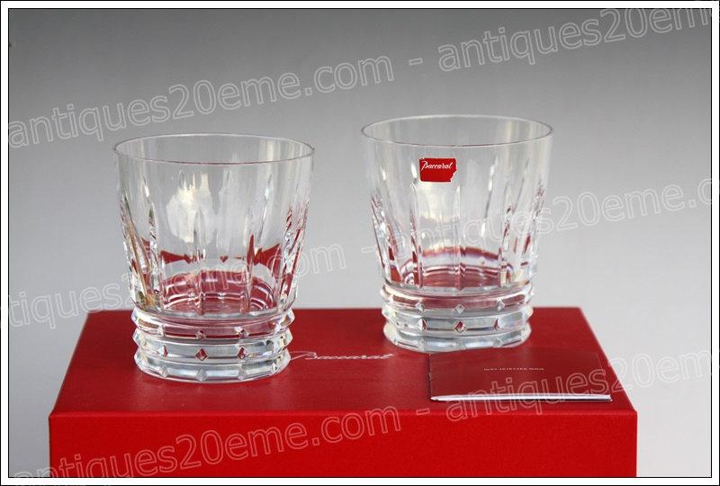 Verres gobelets à whisky Old Fashion en cristal Baccarat Arlequin, Baccarat crystal glasses