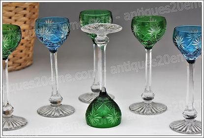 Verres cristal de St Louis modèle service Moselle