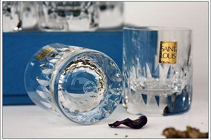 Verres service cristal Saint Louis Marine Deauville