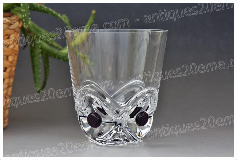 Verre à whisky en cristal de Lalique modèle Floride, Lalique crystal whisky glass