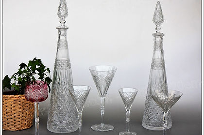 Service cristal Baccarat Elbeuf verre carafe coupe Roemer