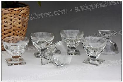 Verres cristal de Baccarat service modèle Albufera, design Georges Chevalier