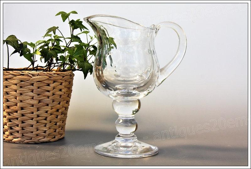Pichet broc en cristal du service St Louis Bubbles, St Louis crystal pitcher