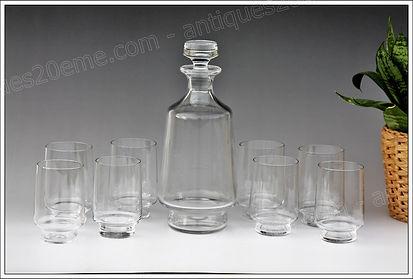 Service verres cristal Baccarat Aubépine