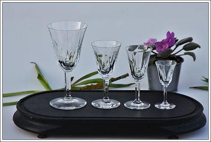 Verres service cristal St Louis Cerdagne