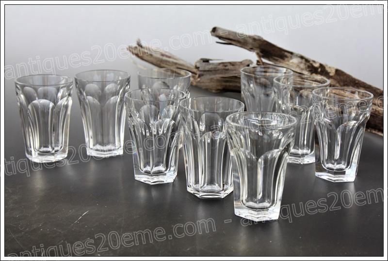 Verres gobelets cristal Baccarat Harcourt