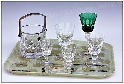 Service verres en cristal de St Louis modèle Jersey Paquebot France