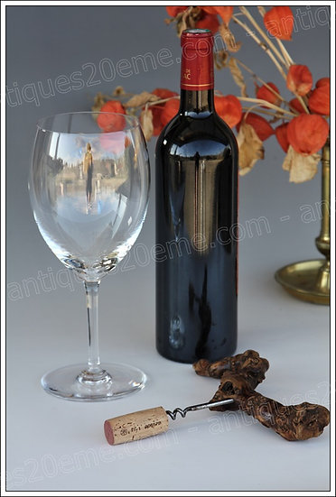 Verres à dégustation vin en cristal du service Baccarat Saint-Emilion, Baccarat crystal tasting wine glasses