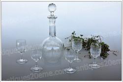 Service liqueur cristal Baccarat Nancy