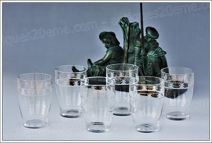Verres cristal Baccarat service modèle Moulins
