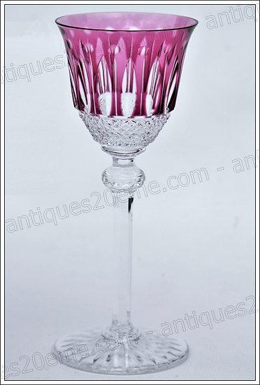 Verre à vin porto couleur en cristal de St Louis modèle Tommy, St.Louis lined crystal wine glass