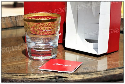 Service de verres en cristal Baccarat Rivoli or 24 carats