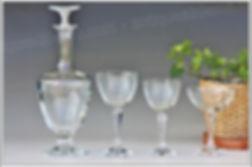 Verres carafe service cristal Baccarat Opéra