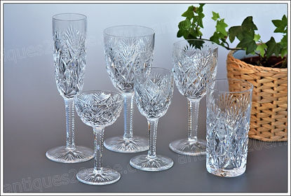 Service verres cristal St Loui Florence