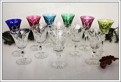 Verres service cristal St Louis Camargue
