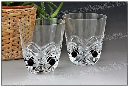 Verres en cristal de Lalique modèle service Floride