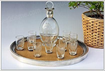 Services à liqueur, porto, alcool en cristal de Baccarat