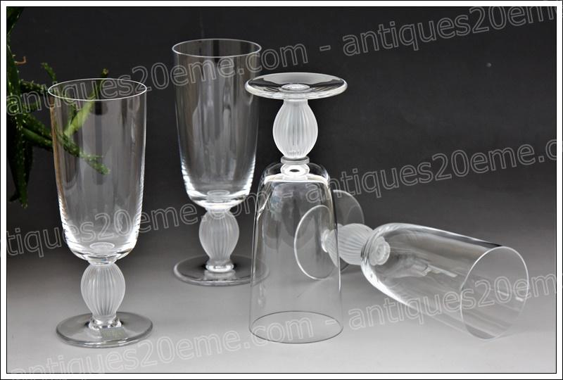 Verres cristal Lalique Langeais