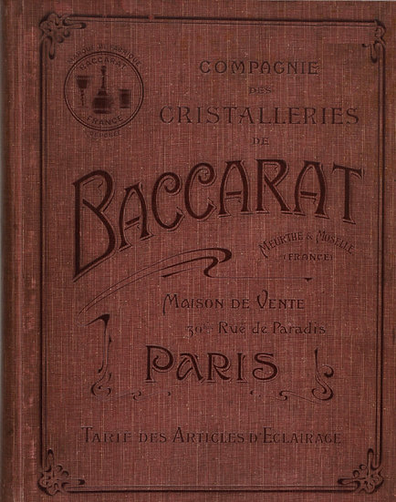 Catalogue Baccarat 1903 Eclairage - 1903 Baccarat Lighting catalog