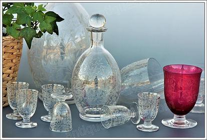 Service verres cristal Baccarat Riviera