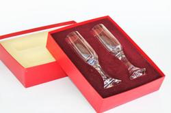 Flûtes verres cristal Baccarat Mercure