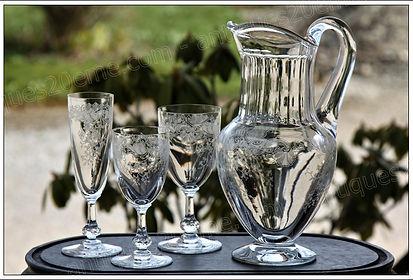 Verres service cristal St Louis Cléo