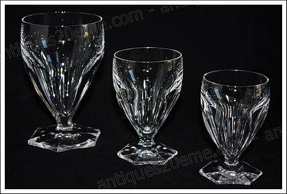 Verres service cristal Saint Louis Poincaré