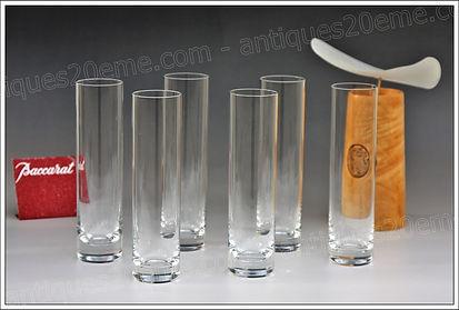 Verres en cristal de Baccarat modèle service Roseaux