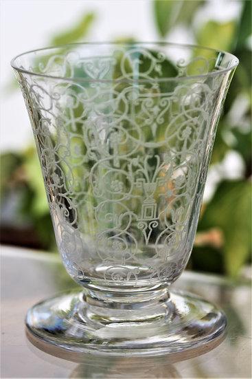 Verre à porto ou vin cuit en cristal de Baccarat modèle Michelangelo, Baccarat crystal port wine glass