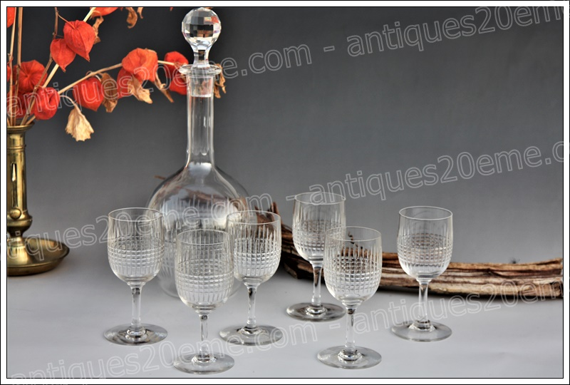 Service vin cristal Baccarat Nancy