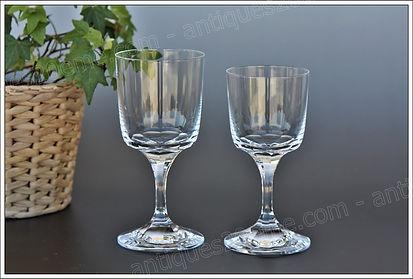 Service verres cristal Lalique Chenonceau