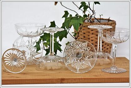 Service verres cristal Baccarat Epron