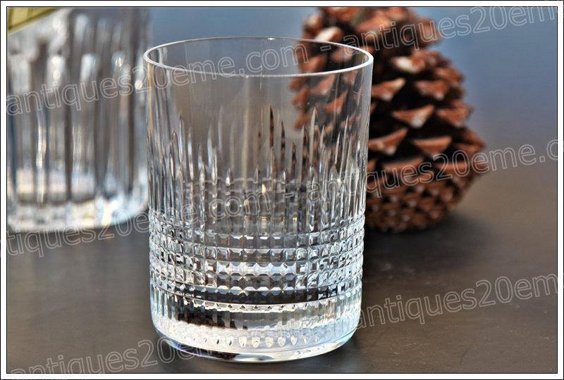 Verre à whisky cristal de Baccarat modèle service Nancy, Baccarat crystal whiskey glass