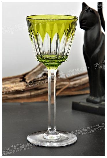 Verre à vin du Rhin Roemer en cristal de Baccarat modèle service Val d'Oise, Baccarat Lagny crystal wine hock roemer glass