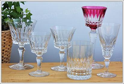 Service de verres en cristal de Baccarat modèle Piccadilly