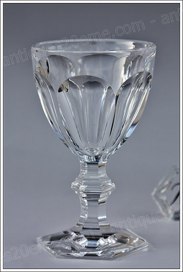 Verre à vin en cristal du service Baccarat Harcourt, Baccarat crystal wine glass