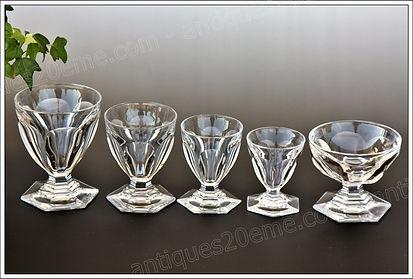Verres cristal service modèle Baccarat Bourbon