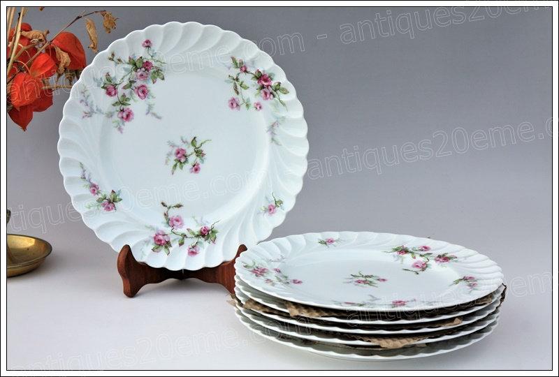 Assiettes en porcelaine de Limoges Haviland Sylvie, Limoges Haviland porcelain plates