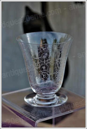 Verre à vin en cristal de Baccarat modèle service Michelangelo Michel Ange, Baccarat crystal wine glass