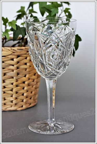 Verre à eau en cristal du service Baccarat Lagny, Baccarat crystal water glass