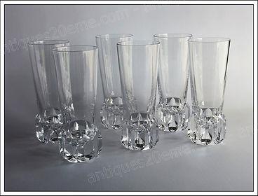 Verres service cristal Saint Louis Riviera