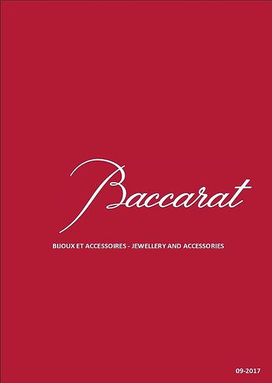 Catalogue Baccarat bijoux cristal et accessoires, Baccarat catalog
