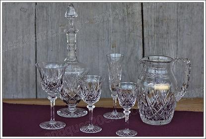 Verres service cristal St Louis Sammy
