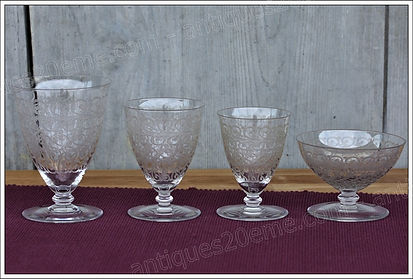 Service verres cristal Baccarat Chateaubriand