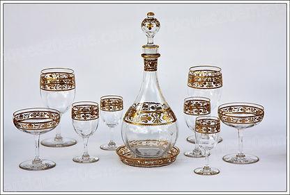 Service cristal Baccrat Fleur d Lys
