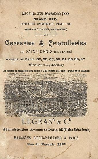 Catalogue d'articles pour professionnels en cristal Legras